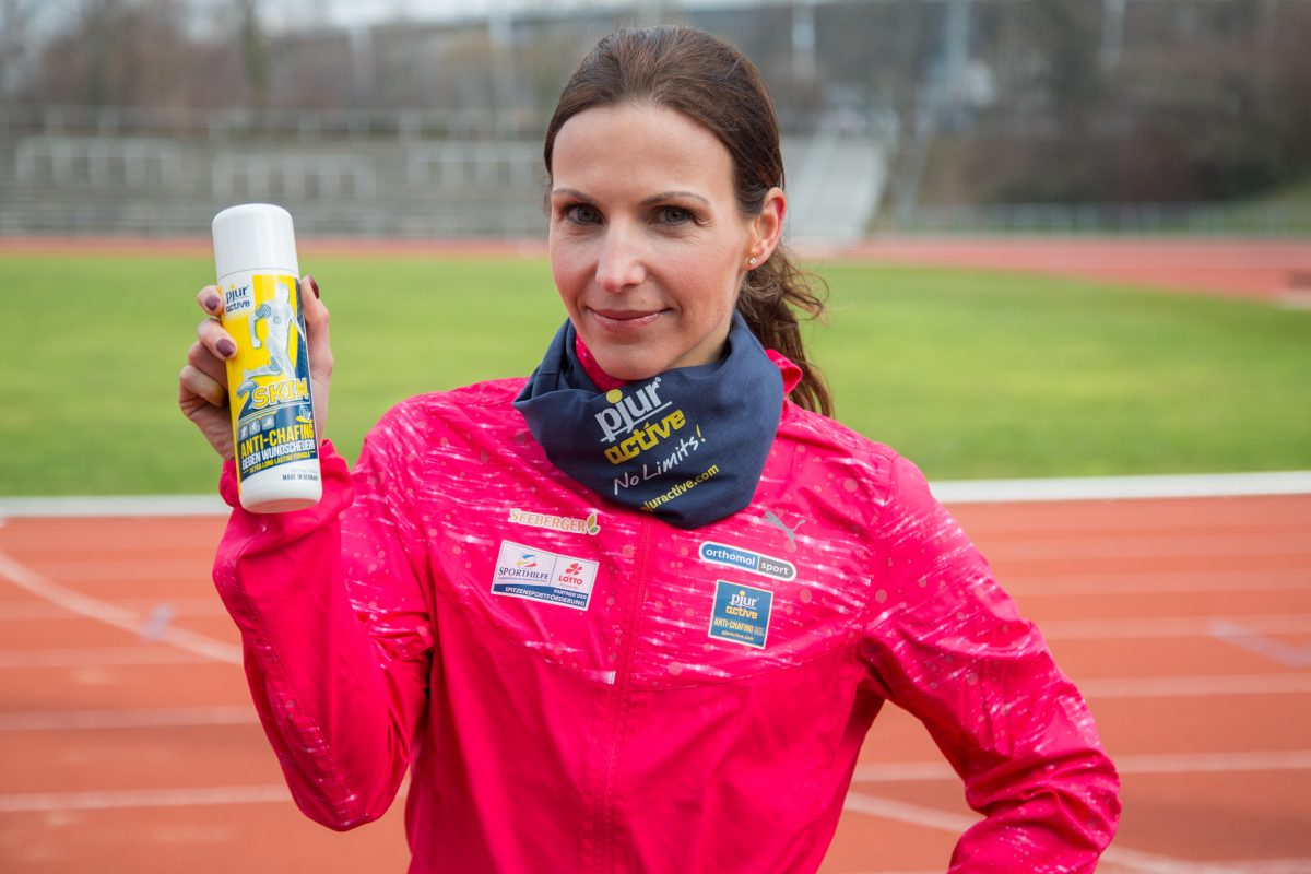 record runner Sabrina Mockenhaupt in an interview with pjuractive