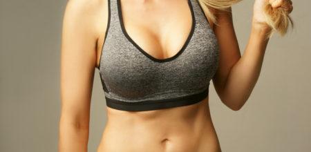 Gepolsterte Sport-BHs wie weibliche Athleten davon profitieren