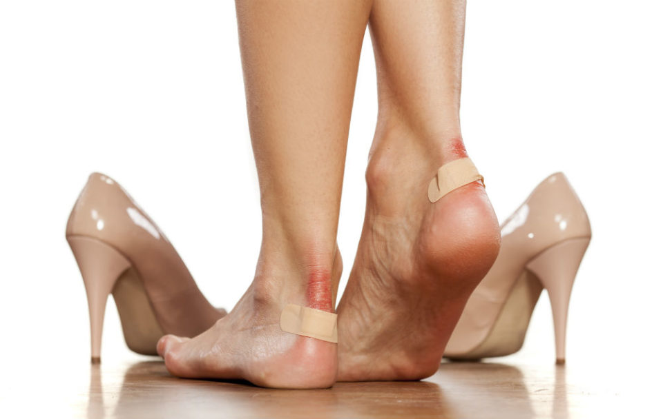 How do you treat blisters on your feet?